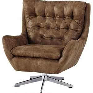 BROWN BOMBER LOOK SWIVEL CHAIR